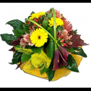 Bouquet ensoleillé arums et germinis  Généreux Bouquets