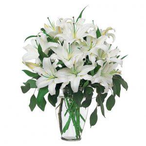Brassée de Lys Blancs  Généreux Fleurs Petits Prix > Bouquets