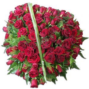 Coeur de Roses-deuil  60 cm Par Occasion > Deuil