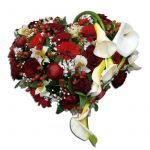 Coeur fleuri-deuil  60 cm Par Occasion > Deuil
