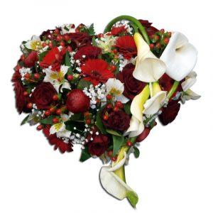 Coeur fleuri-deuil 60 cm Par Occasion Deuil