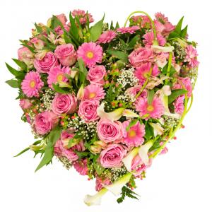 Coeur rose 60 cm Par Occasion Deuil