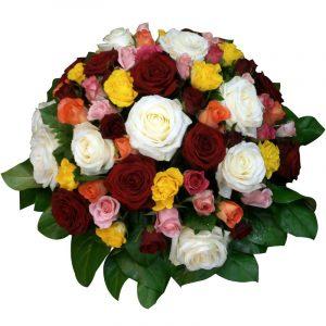 Coussin de Roses- deuil 70 Par Occasion Deuil