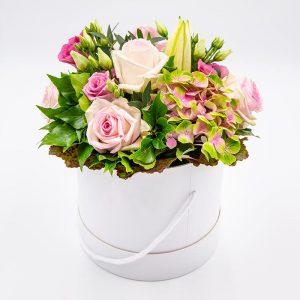 Rosée matinale Composition florale de roses
