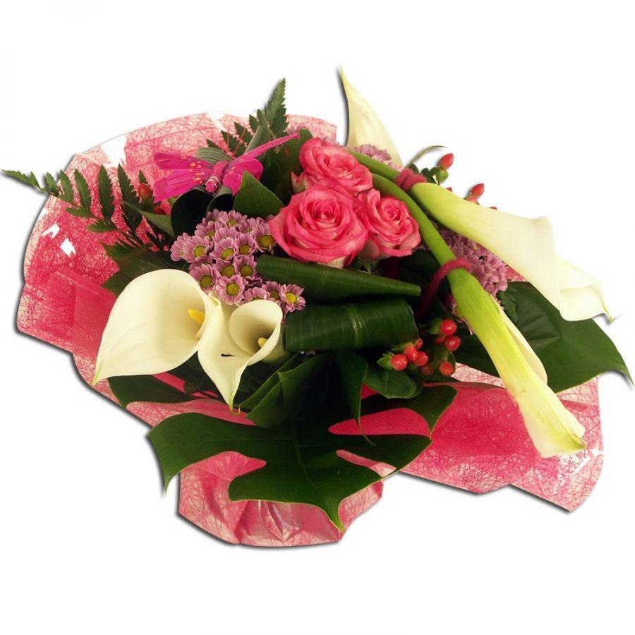 Bouquet Lady Bouquet rond composé d'arums