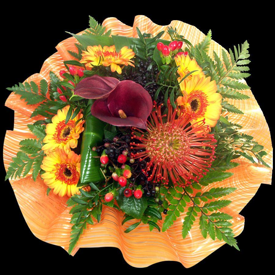 Bouquet Rond Chataigne  Généreux Bouquets