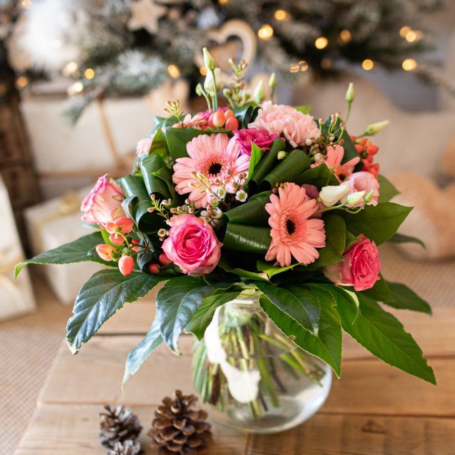 Bouquet douceur rosé