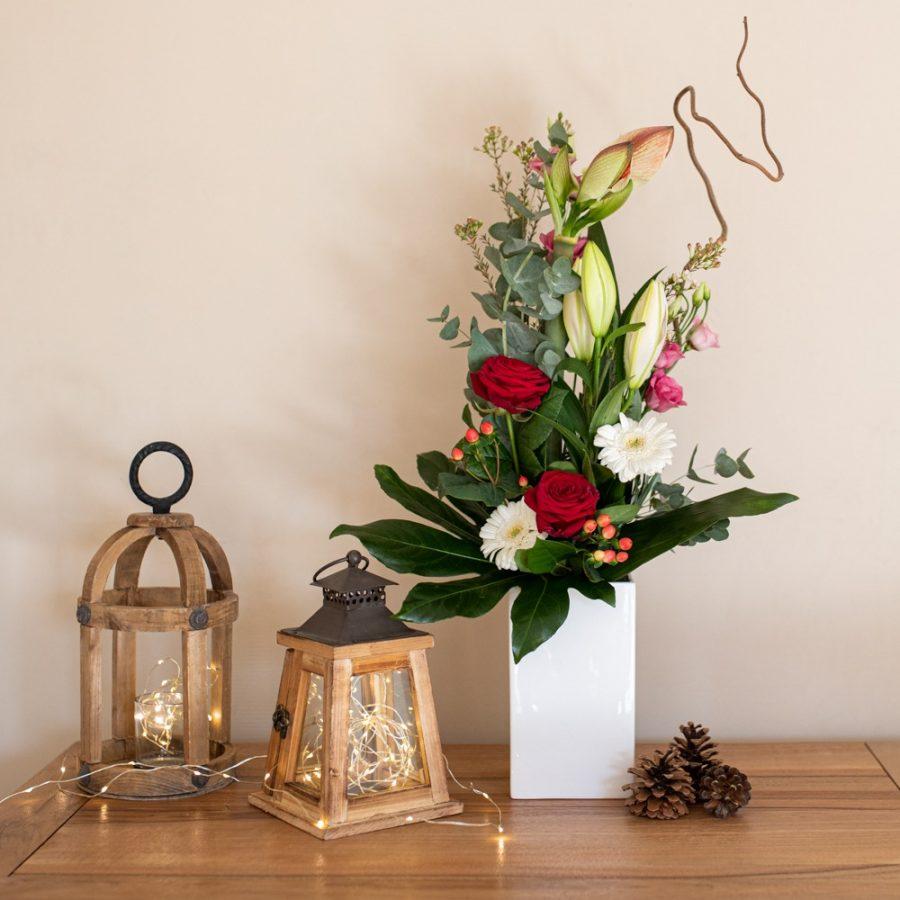 Bouquet hauteur Noël Amaryllis