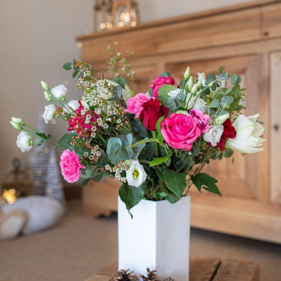 Bouquet rouge rose blanc