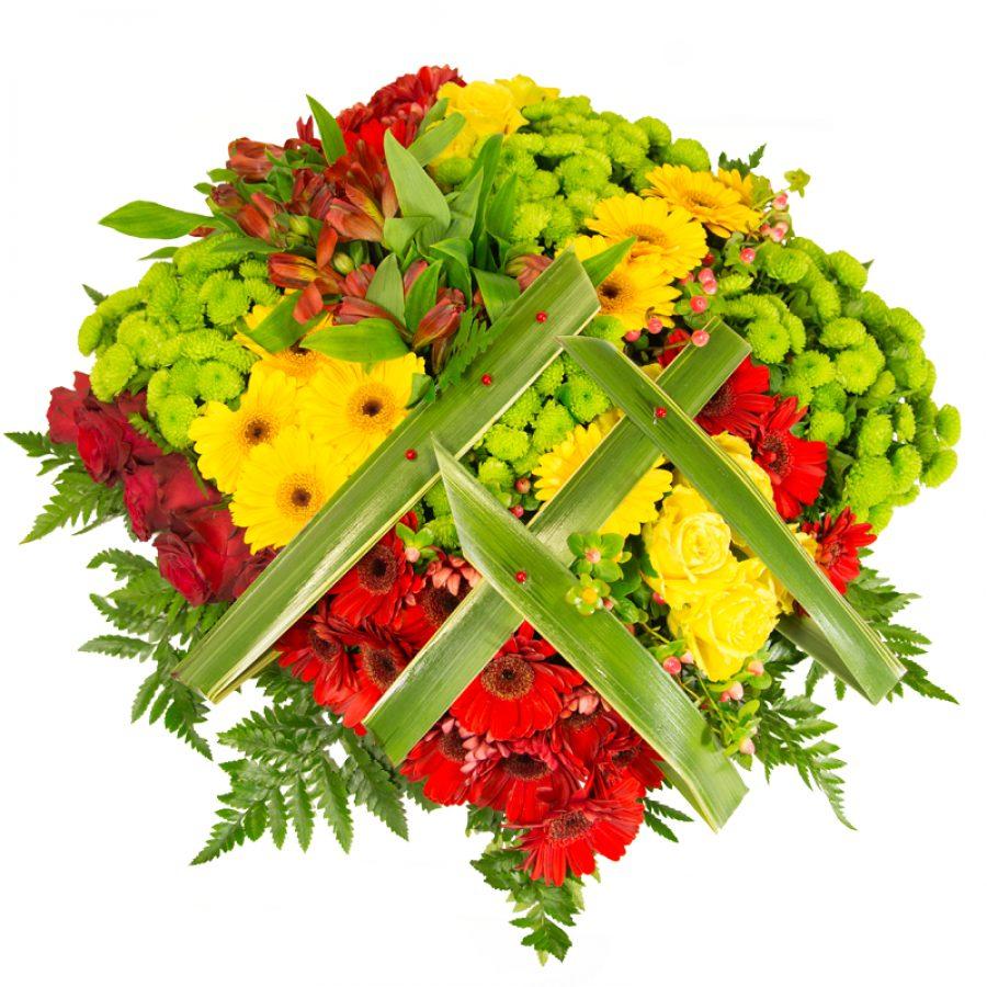 Carré de fleurs 60 cm Par Occasion Deuil
