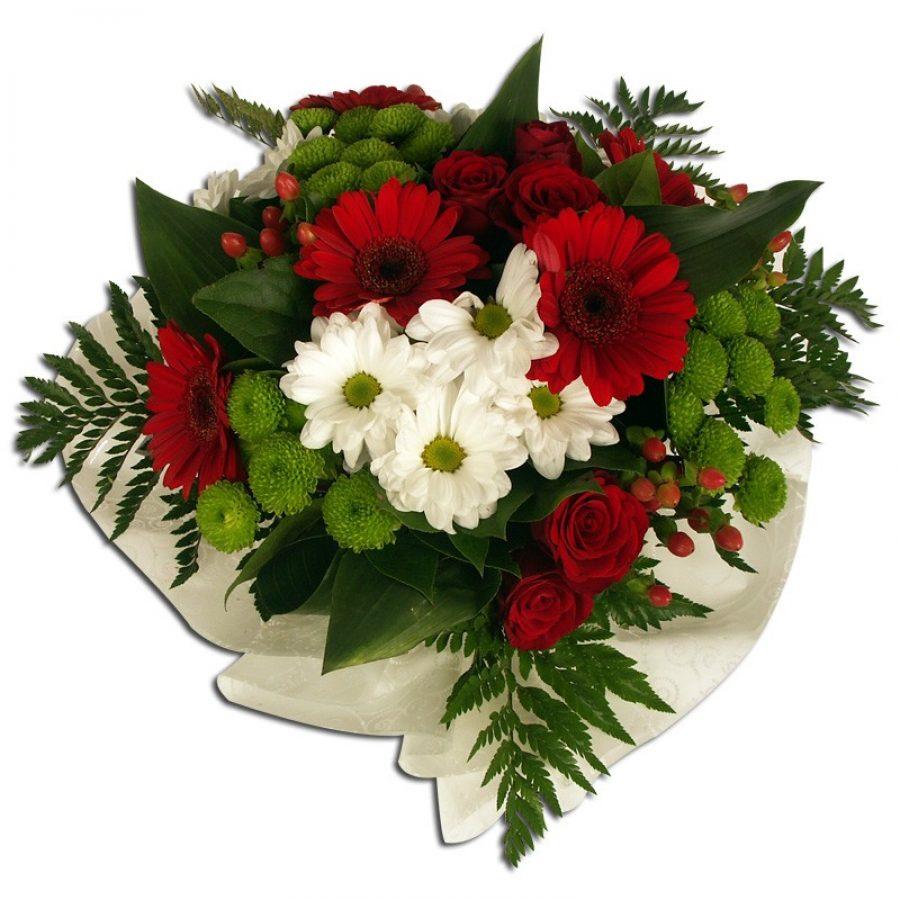 Craquant bouquet rouge et blanc  Généreux Par Occasion  ></noscript> Anniversaire