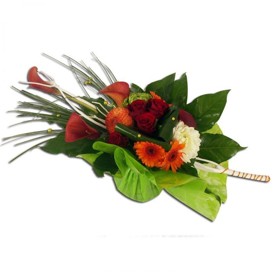 Flamboyant Bouquet fagot composé de mitsumatas