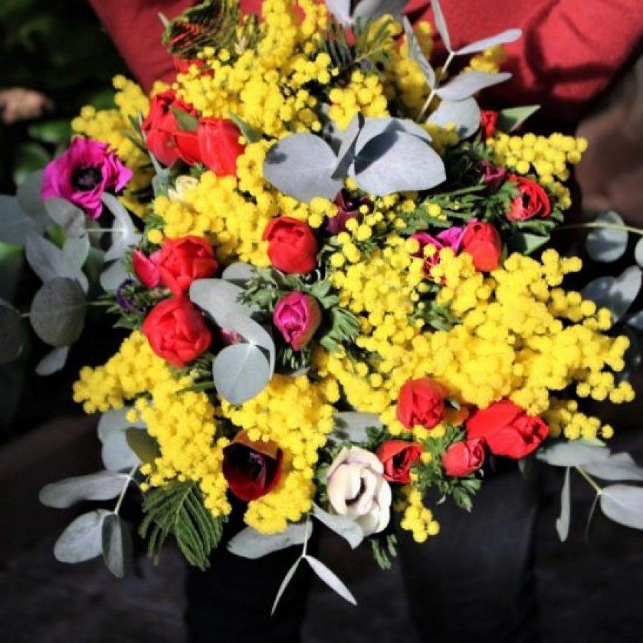 bouquet-mimosa-anemones-tulipes (3)
